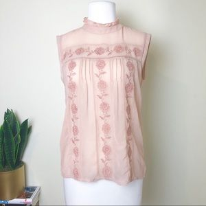 Walter baker pink shear top